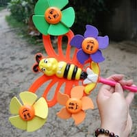 Children's toys wholesale mixed batch of traditional toys small butterfly-shaped windmill windmill stall selling 90g