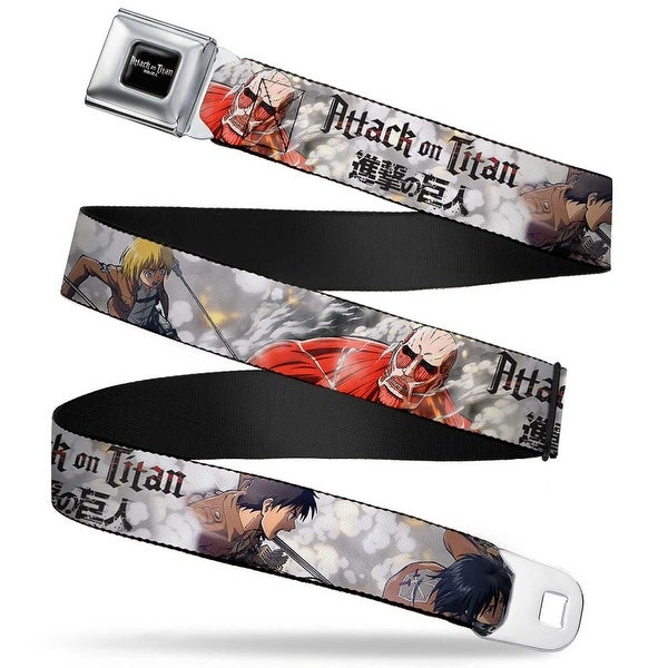 Attack On Titan Logo Full Color Black White Red Attack On Titan Trainees Seatbelt Belt