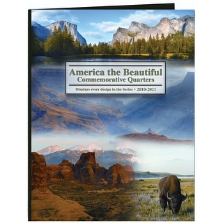 America The Beautiful Commemorative Quarter Color Folder-2010-2021