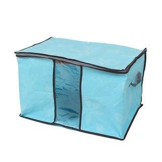 Blanket Pillows Quilts Clothes Bedding Storage Bag Organizer Blue 60x35x42cm