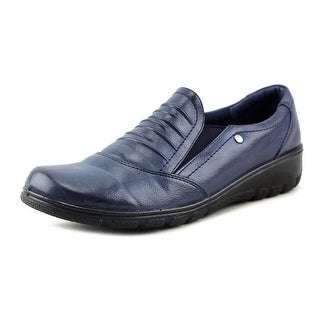 Easy Street Proctor Women Round Toe Leather Blue Loafer