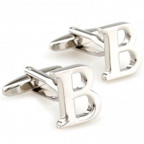 Letter B Alphabet Initial Cufflinks