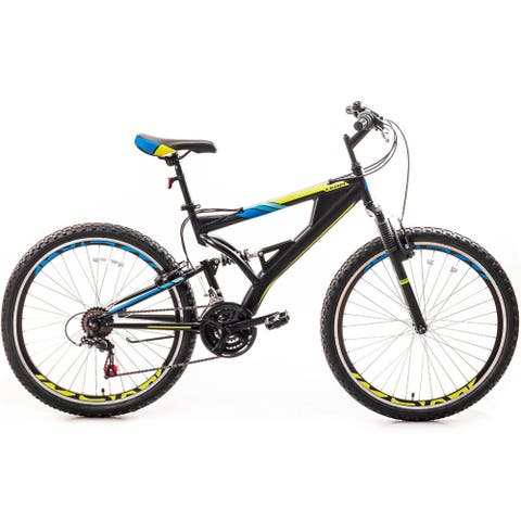 26 Inch Mountain Bike with Full Suspension 21-Speed Aluminum Frame Bicycle