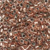 Miyuki Delica Seed Beads 11/0 Copper Lined Crystal DB037 7.2 GR