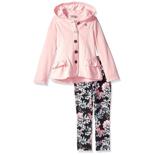 959d17f5796 Shop Calvin Klein Girls 4-6X Fleece Jacket Legging Set - Pink - Free  Shipping On Orders Over $45 - Overstock - 26267804