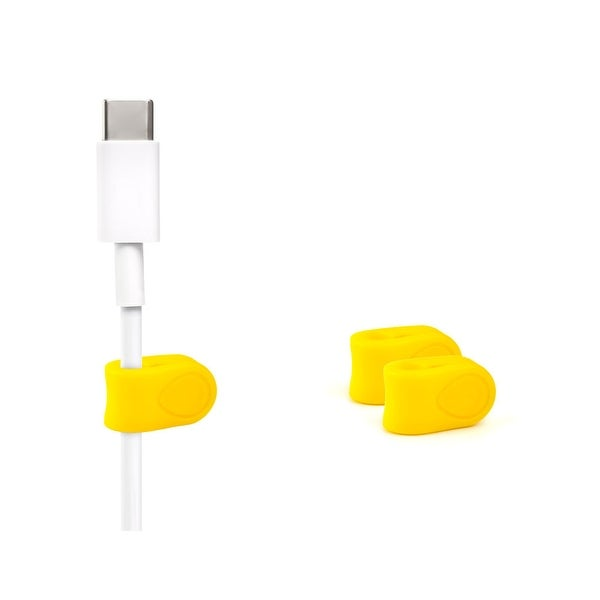 3-pack MOS Magnetic Cable Ties (Yellow)