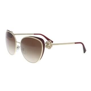 Bulgari BV6092B 278/13 Pale gold/ Burgundy Cat eye Sunglasses - 57-17-135