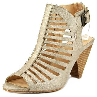 Vince Camuto Eliana Women Open Toe Leather Gold Sandals