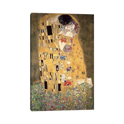 """iCanvas """"Der Kuss"""" by Gustav Klimt Canvas Print"""