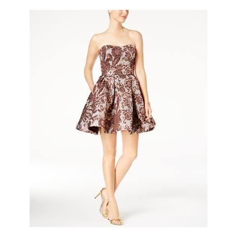 BETSY & ADAM Purple Sleeveless Mini Fit + Flare Dress Size 6