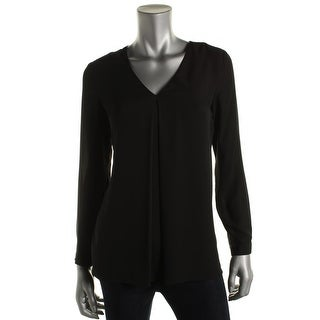 Vince Camuto Womens Inverted Pleat Long Sleeves Blouse