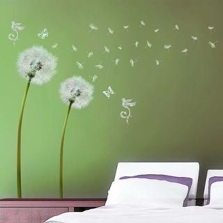 Walplus Wall Sticker White Dandelion Flower DIY Art Home Decor Decal