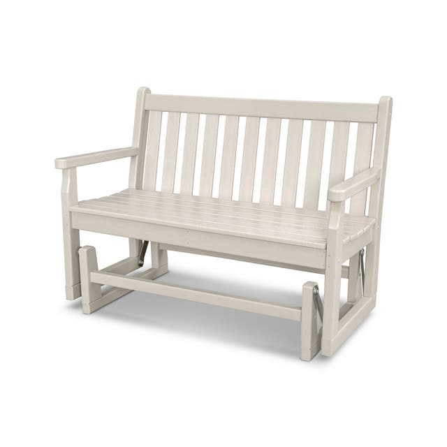 POLYWOOD Traditional 48-inch Outdoor Garden Glider Bench - Sand