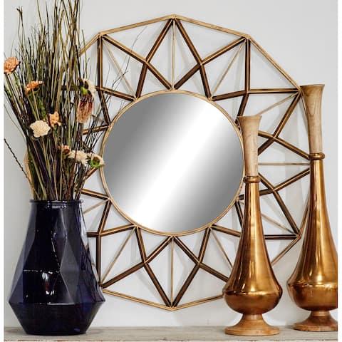 Gold Iron Glam Wall Mirror 32 x 32 x 3