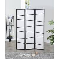 Costway 3 Panel Screen Room Divider Wood Folding Freestanding Partition Privacy Screen - Black