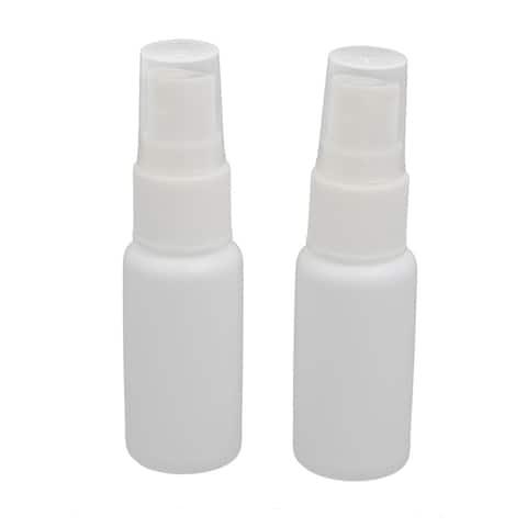 20ml PE Plastic Cylinder Shape Mist Misting Spray Bottle White 2pcs