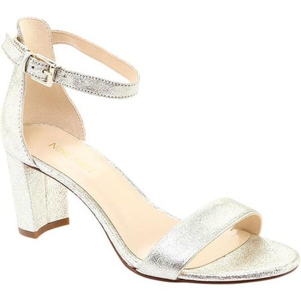 07386c52db5 Nine West Women  x27 s Pruce Ankle Strap Sandal Light Gold Light Gold