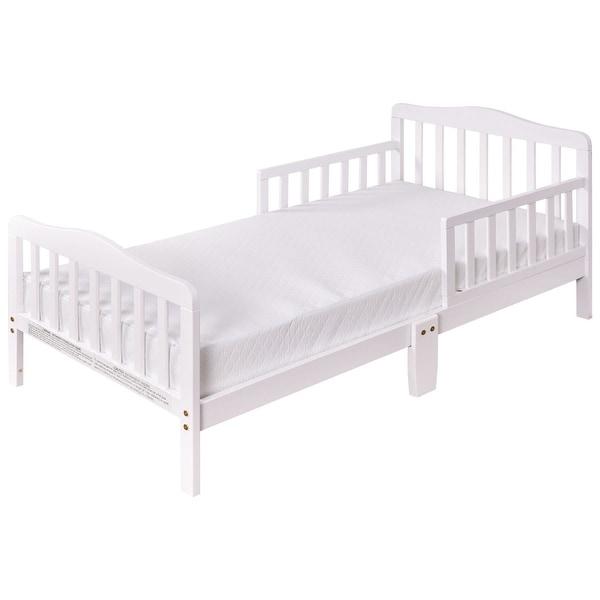 Shop Costway Baby Toddler Bed Kids Children Wood Furniture W Safety