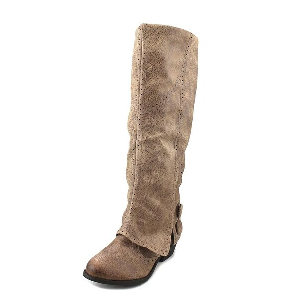 Not Rated Blanchee Women Round Toe Synthetic Brown Knee High Boot
