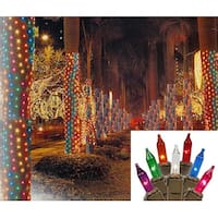 2' x 8' Multi-Color Mini Net Style Tree Trunk Wrap Christmas Lights - Brown Wire
