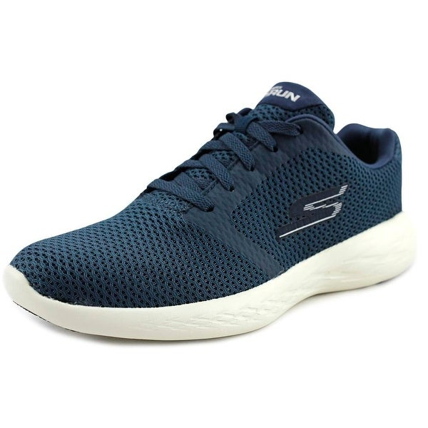 Skechers Go Run 600 - Refine Women Round Toe Canvas Blue Sneakers