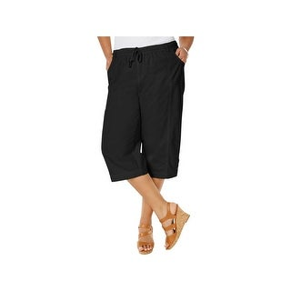 Karen Scott Womens Plus Capri Pants Cropped Comfort Waist