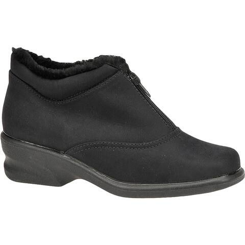 Toe Warmers Womens Micha Booties Zipper Ankle - Black - 6 Medium (B,M)