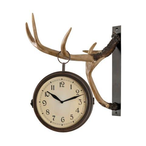 Deer Park Clock - 13.75'' W x 18'' H x 11'' D