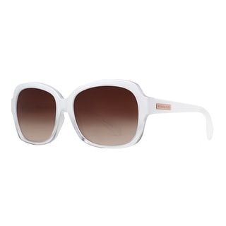 MICHAEL KORS Oval MK 6037 Mitzi III Women's 3126 13 Clear White Brown Gradient Sunglasses - 57mm-16mm-135mm