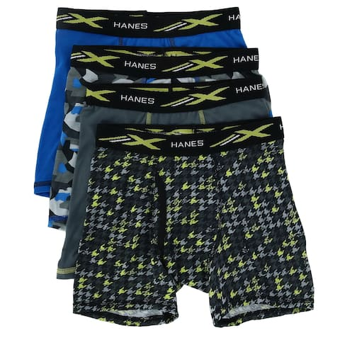 Hanes Boy's X Temp Boxer Brief Underwear (4 Pack)