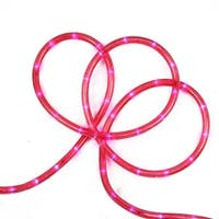 "18' Pink LED Indoor/Outdoor Christmas Rope Lights - 2"" Bulb Spacing"