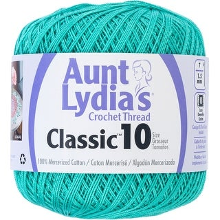 Aunt Lydia's Classic Crochet Thread Size 10-Jade
