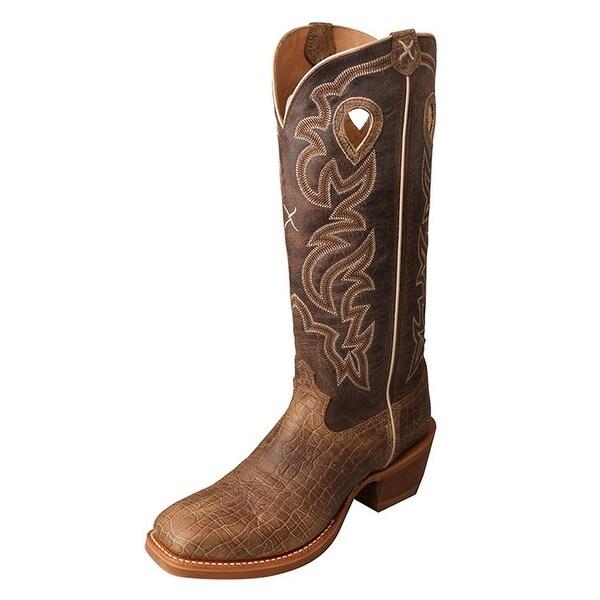 Twisted X Western Boots Men Silver Buckle Buckaroo Crazy Horse