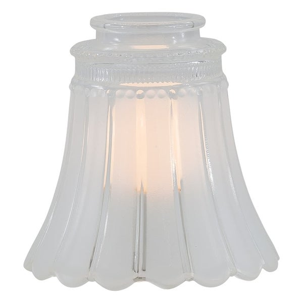 """MinkaAire MA G2560 2-1/4"""" Glass Shade for Ceiling Fan Light Kit - frost / clear"""