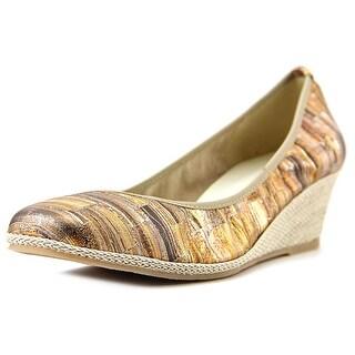 Sesto Meucci Mignon Open Toe Synthetic Wedge Heel