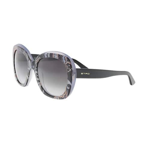 Etro ET633/S 14 Black-Orange Round Sunglasses - 55-20-140