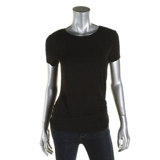 Calvin Klein Womens T-Shirt Liquid Jersey Crew Neck