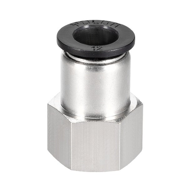 Push to Connect Tube Fitting Adapter 12mm OD x 1/2 NPT Straight Connecter