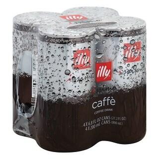 Illy Issimo Caffe Italian Espresso Style Coffee Beverage - Case of 6 - 6.8 Fl oz.