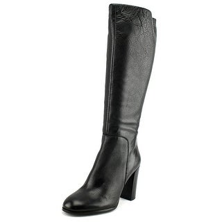 Kenneth Cole NY Justin Women  Round Toe Leather Black Knee High Boot