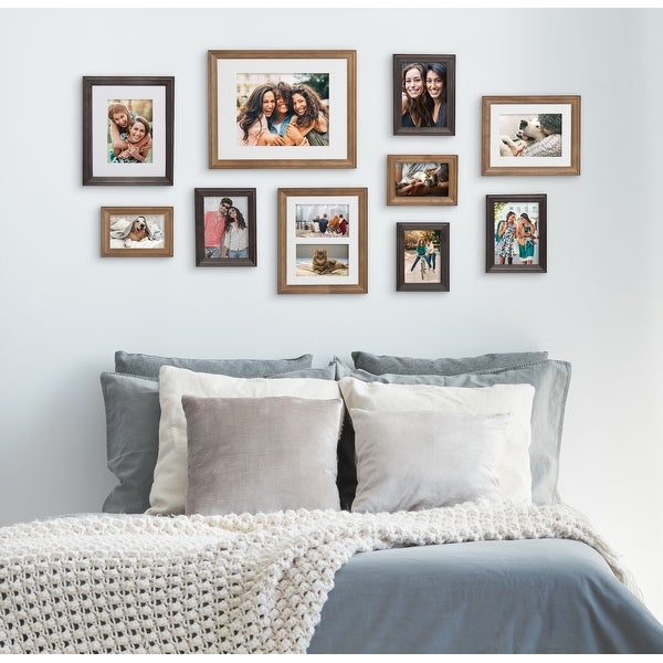 Kate and Laurel Bordeaux Gallery Wall Wood Picture Frame Set. Opens flyout.
