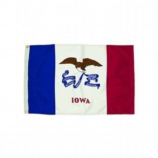 3X5 Nylon Iowa Flag Heading & Grommets