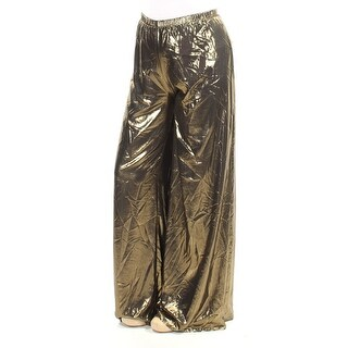 Womens Gold Party Pants Size M