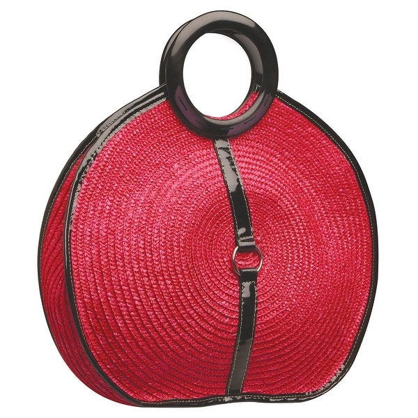 c9e5c2f1c0 Shop Magid Women s Milan Circle Handbag - Round Cherry Red Purse with Faux  Leather - On Sale - Free Shipping On Orders Over  45 - Overstock - 22580795