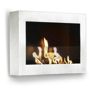 Anywhere Fireplace 90213 Indoor Wall Mount Fireplace SoHo White-High Gloss Model - White