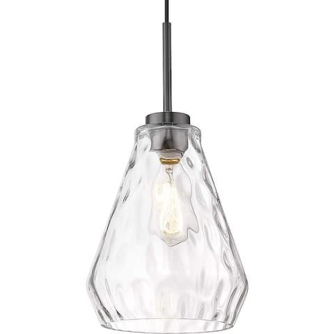 Kitchen over sink lighting fixtures hammered glass