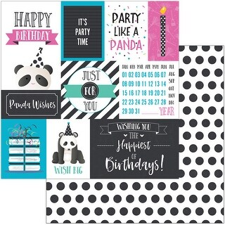 """Cake Panda Party Double-Sided Cardstock 12""""X12""""-Panda Wishes"""