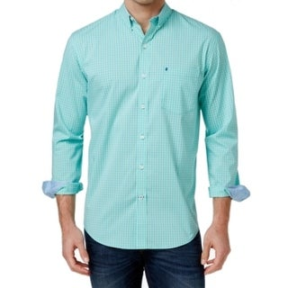 IZOD NEW Green Mens Size Small S Stretch Performance Button Down Shirt