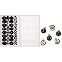 "32 Alphabet Stickers & 16 Epoxy Stickers - Idea-Ology Type Charms .6875"" 16/Pkg"