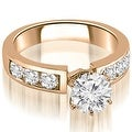 2.25 cttw. 14K Rose Gold Classic Channel Set Round Cut Diamond Bridal Set - Thumbnail 1